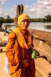 Khmer ναός σε Angkor στην Καμπότζη Στοκ Φωτογραφία