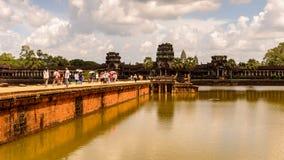 Khmer ναός σε Angkor στην Καμπότζη Στοκ Εικόνα