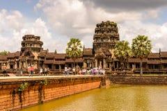 Khmer ναός σε Angkor στην Καμπότζη Στοκ εικόνα με δικαίωμα ελεύθερης χρήσης