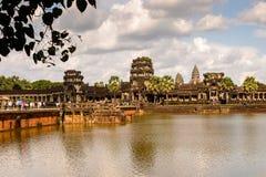 Khmer ναός σε Angkor στην Καμπότζη Στοκ Φωτογραφίες