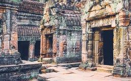 Khmer ναός στο ναό σύνθετο Angkor Wat στην Καμπότζη TR Στοκ Εικόνα