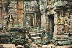 Khmer ναός στο ναό σύνθετο Angkor Wat στην Καμπότζη TR Στοκ φωτογραφίες με δικαίωμα ελεύθερης χρήσης