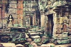 Khmer ναός στο ναό σύνθετο Angkor Wat στην Καμπότζη TR Στοκ φωτογραφία με δικαίωμα ελεύθερης χρήσης