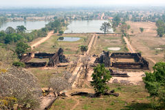 khmer ναός phu του Λάος wat Στοκ Εικόνα