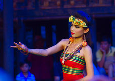 Khmer actors during the theatrical performance. Bride Stock Photo