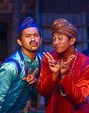 Khmer actors during the theatrical performance. Fiances Stock Photography