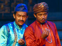 Khmer actors during the theatrical performance. Fiances Royalty Free Stock Photos