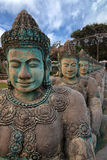 Khmer ancient sculptures nearby Angkor Wat Royalty Free Stock Photography