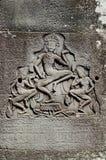 Khmer angkor wat Kambodja van steengravures royalty-vrije stock foto