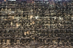 Khmer Angkor Wat Wall Stock Photo