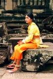 Khmer apsara στο ναό Angkor wat Στοκ Εικόνες