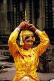 Khmer apsara at Angkor wat temple Royalty Free Stock Photography