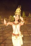 Khmer apsara dance. Is a form of traditional dance from Cambodia. In this picture, the performance is at local restaurant, Siem Reap Stock Images
