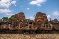 Khmer archaeological site of Prasat Muang Tam in Buriram Province,Thailand Stock Photos