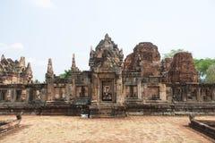 Khmer archeologische plaats van Prasat Muang Tam in Buriram-Provincie, Thailand Royalty-vrije Stock Foto's