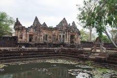 Khmer archeologische plaats van Prasat Muang Tam in Buriram Thailand Stock Fotografie
