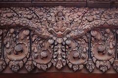 Khmer architecture Banteai Srei temple Angkor wat Siem Reap Cambodia Stock Photo