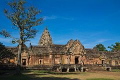 Khmer art sanctuary in Thailand Royalty Free Stock Photos