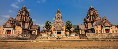 Khmer building shaped in thailand Royalty Free Stock Photos