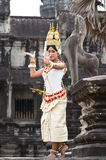 Khmer classical dancer performing Royalty Free Stock Photos