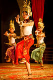 Khmer classical dancers in costume Stock Photos