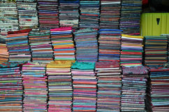 Khmer cloths for sale at a market Royalty Free Stock Photo