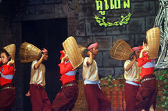 Khmer dance inside theater, Angkor, Cambodia Stock Photo