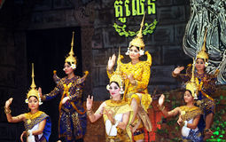 Khmer dance Royalty Free Stock Photos