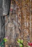 Khmer Devata-Göttinnen im Herzen von Preah Khan Temple, Angkor Stockbilder