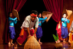 Khmer Folk Dance Stock Photography