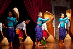 Khmer Folk Dance Royalty Free Stock Image