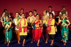 Khmer folk dance, Cambodia Royalty Free Stock Photos
