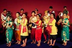 Khmer folk dancers, Cambodia Royalty Free Stock Photo