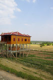 Khmer house built on stilts Royalty Free Stock Photos