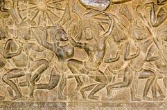 Khmer-Kampffries, Angkor Wat Stockfotografie