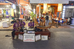 Khmer musicians in Siem Rep, Cambodia Royalty Free Stock Images