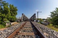 Khmer Railway bridge at kompot Stock Images