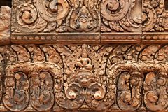 Khmer relief in Banteay Srei Royalty Free Stock Photo