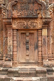 Khmer relief in Banteay Srei Stock Photo