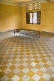 Khmer Rouge Torture Room. This is the actual room and the bed where many Cambodians were tortured and murdered by the Khmer Rouge. Formerly a school, converted Royalty Free Stock Photos