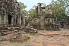 Khmer ruïnes stock afbeelding