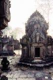 Khmer ruïnes Angkor Wat, Kambodja. Royalty-vrije Stock Foto