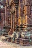 Khmer ruins- Angkor Wat, Cambodia. Royalty Free Stock Image