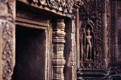 Khmer ruins- Angkor Wat, Cambodia. Stock Photos