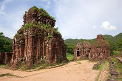 khmer rujnuje świątynnego Vietnam obraz royalty free