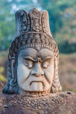 Khmer statue south gate bridge Angkor Thom Cambodia Stock Photography