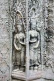 Khmer Steincarvings angkor wat Kambodscha Lizenzfreie Stockfotografie