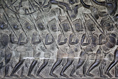 Khmer stone carving Stock Images