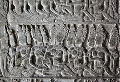 Khmer stone carving Stock Photo