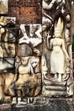 Khmer stone carving Royalty Free Stock Images